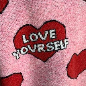 Love Yourself Heart Sweater